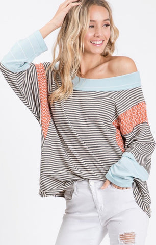 Stripped printed top
