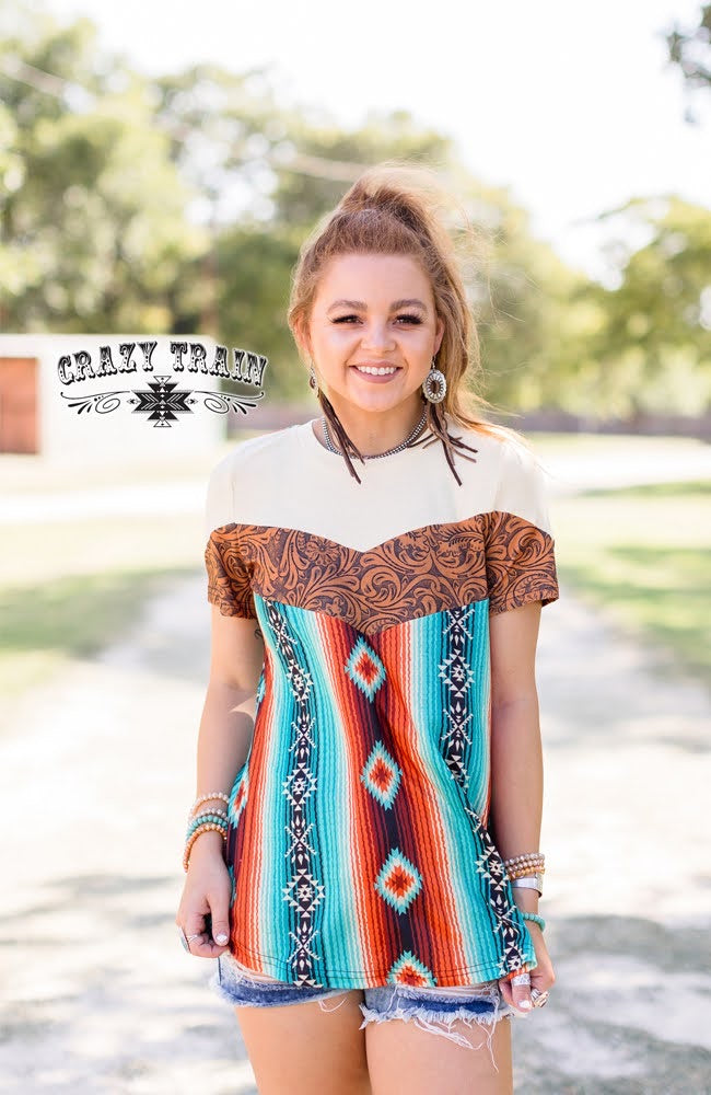Xx Crazy Train Floral Fall Top
