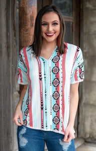 Serape and Aztec top