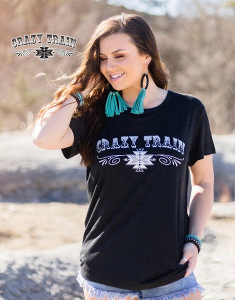 All Aboard the Crazy Train tee
