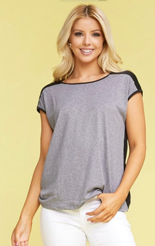 Basic top with cap sleeve