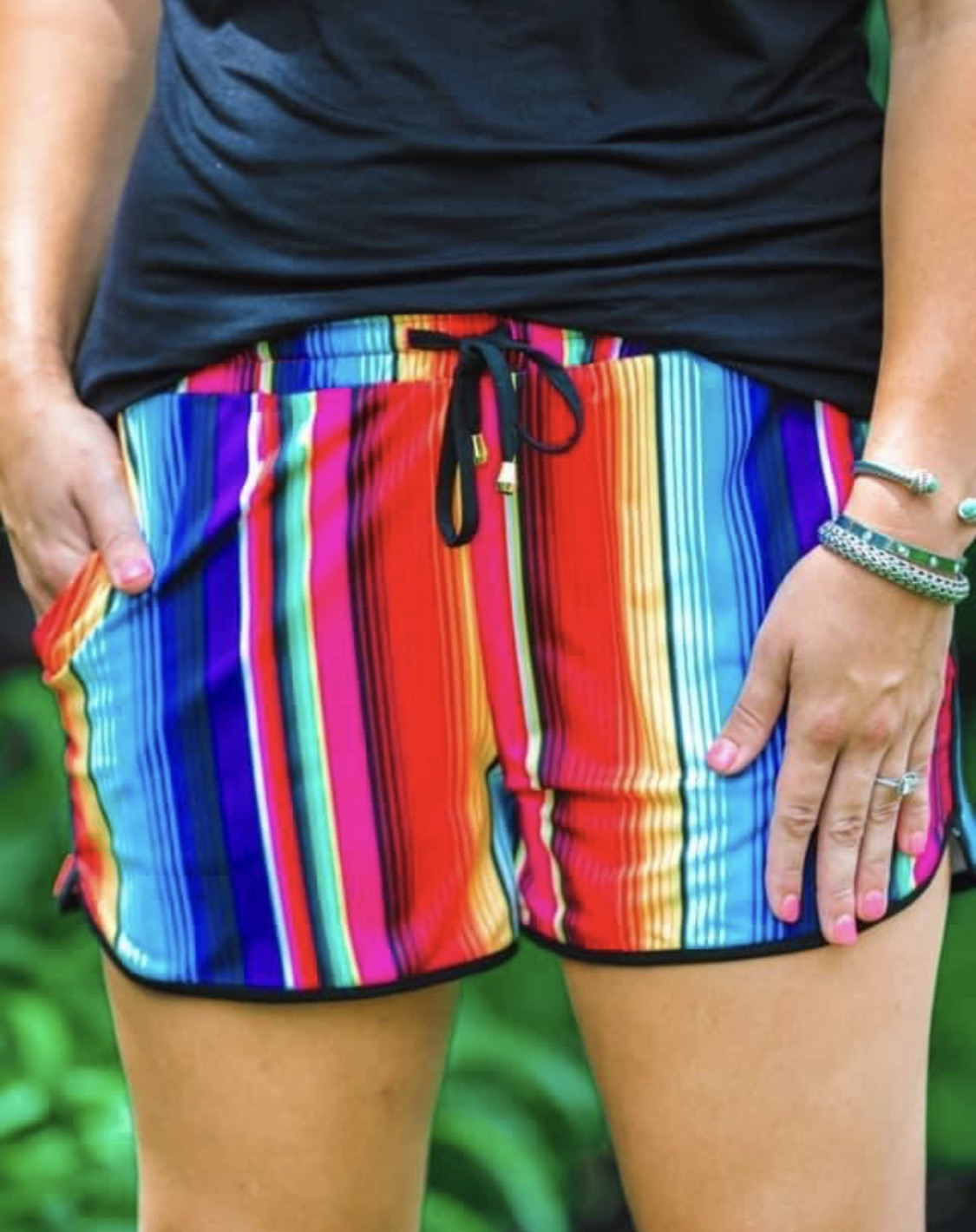 Serape Drawstring Shorts
