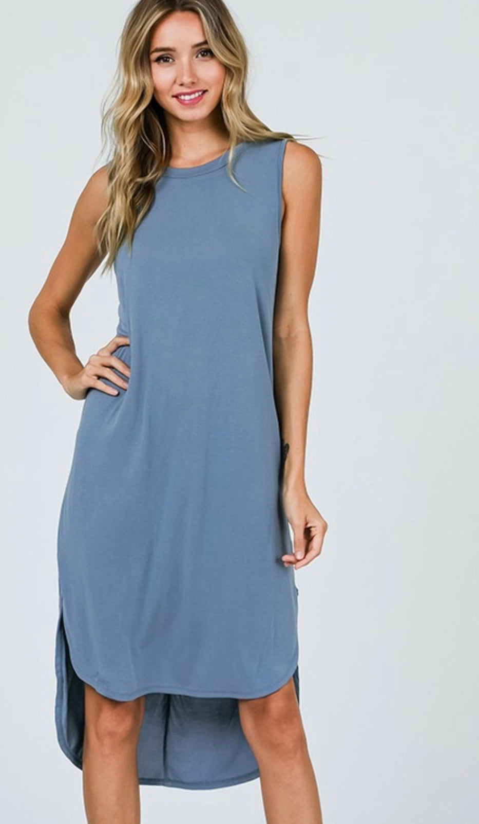 High Low Sleeveless Dress