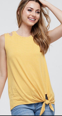 Sleeveless yellow tank