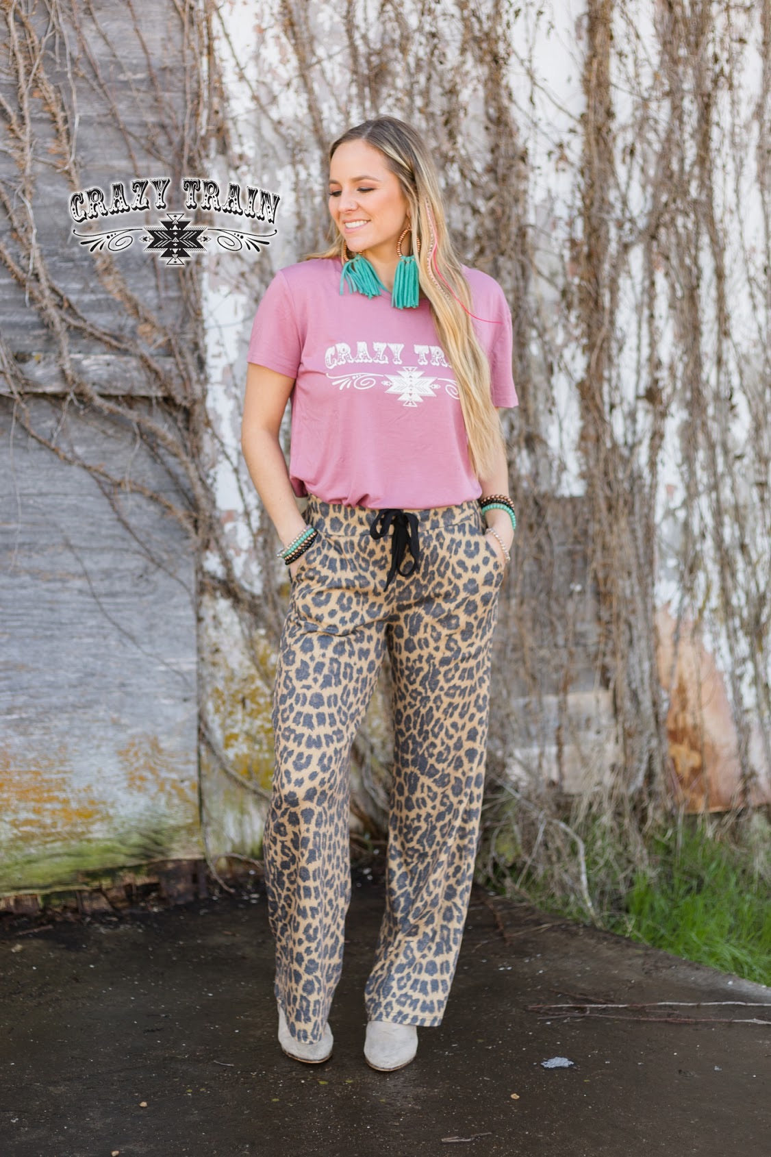 Crazy Train Casual Leopard Bottoms