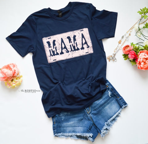 MAMA license plate top
