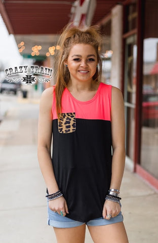 Leopard Pocket Tank Top