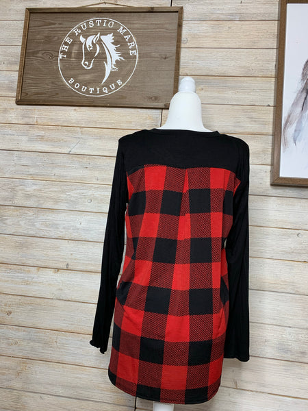 Red Buffalo Plaid Top