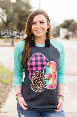 Easter baseball tee by Crazy Train top