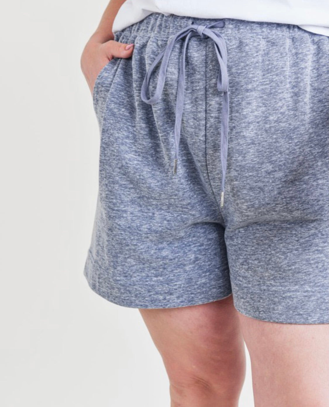 Charcoal Washed Cotton Curvy Shorts