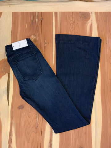 Judy Blue dark blue flared trouser jeans.
