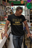 SWAG University: Gold Metallic t-shirt