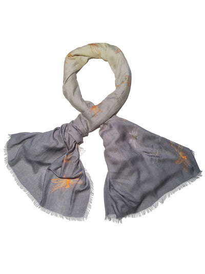 Blue Dragonfly Scarf Fashionable Soft Women's Scarf