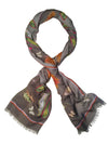 Flower Scarf for Women Soft Modal Tie