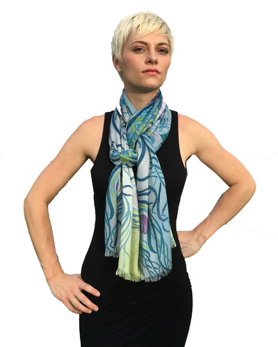 Scarf Tying for Women's Scarves and Shawls Soft Modal