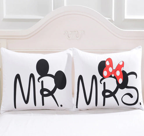 Couples Mr & Mrs Pillow Case - Pandicorn Factory