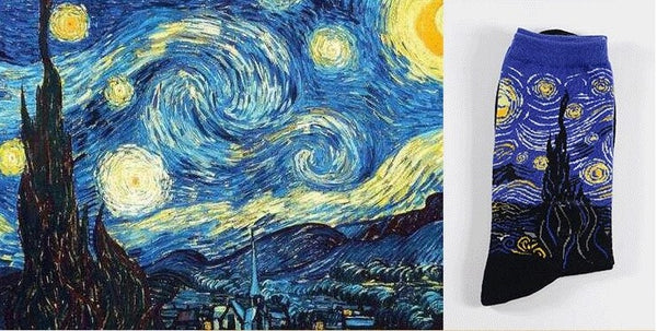 Van Gogh Painting Socks - Pandicorn Factory