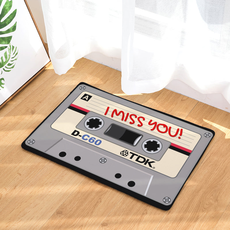 Cassette Bedroom Rug - I Miss You - Pandicorn Factory