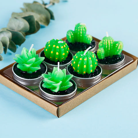 Mini Cactus Candle - Pandicorn Factory