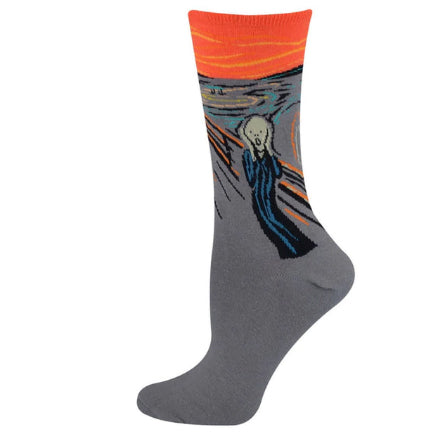 Edvard Munch Painting Socks - Pandicorn Factory