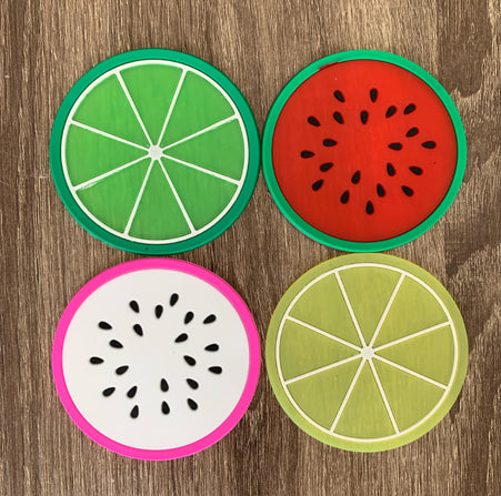 Fruit Coasters - Pandicorn Factory