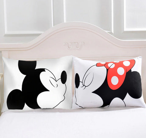 Couples Mickey & Minnie Mouse Pillow Case - Pandicorn Factory