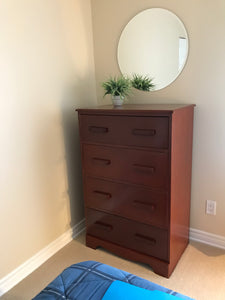 Tallboy Dresser - Solid wood 4 drawers