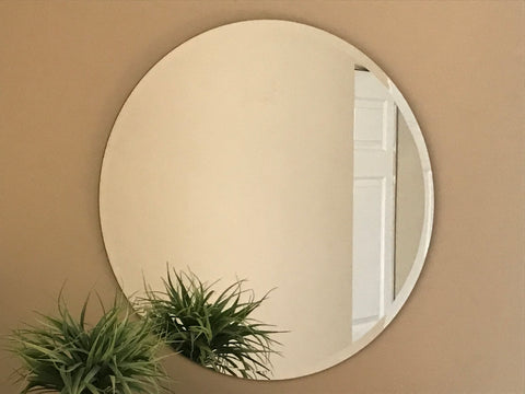 Contemporary Mirror (round with beveled edge)