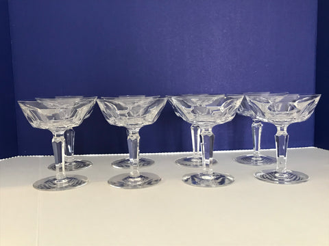 Waterford Crystal Champagne Glasses -Sheila (cut)