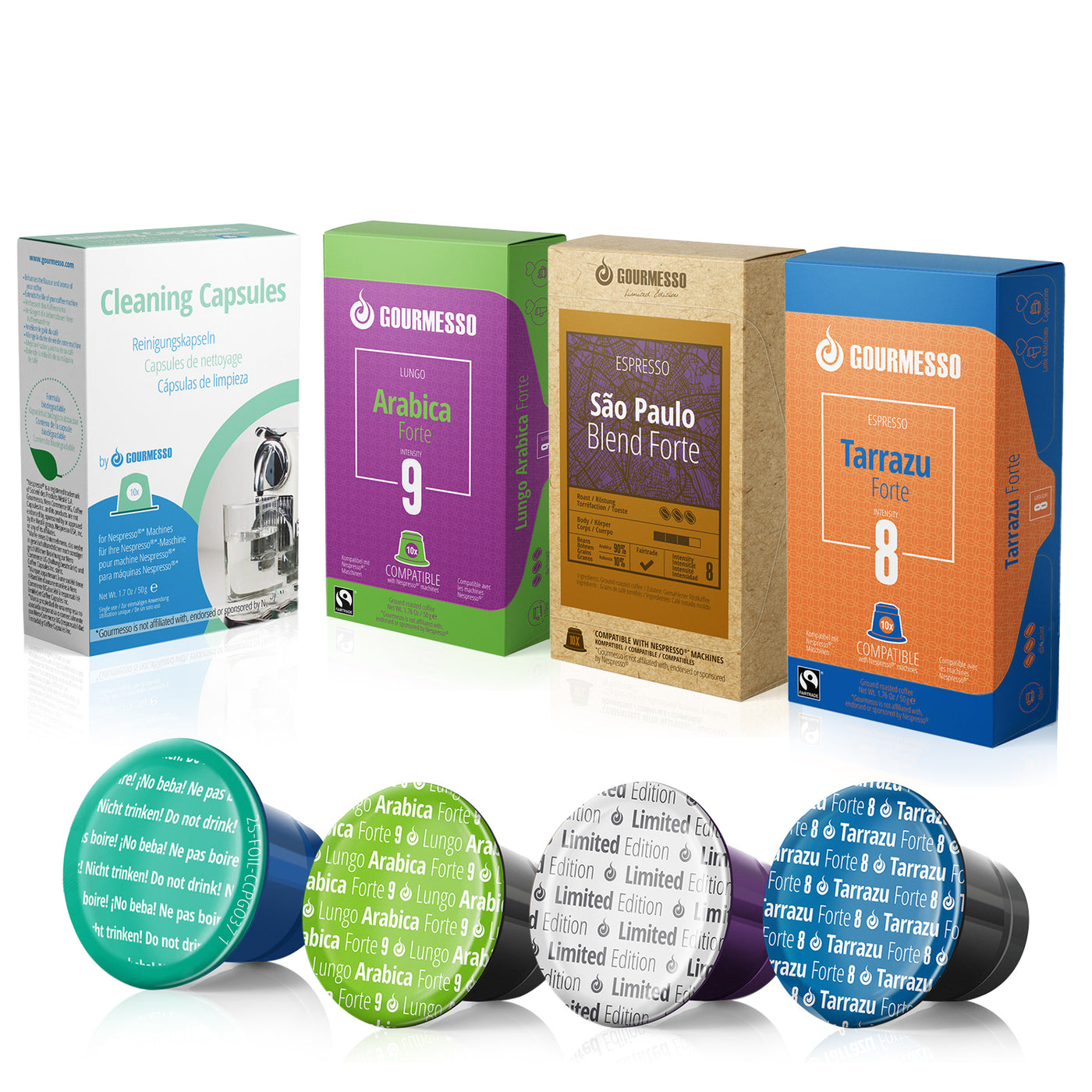 cleaning capsules with 3 free espresso pods compatible with nespresso original machines