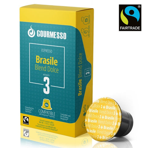 Brasile Blend Dolce Coffee Pods Compatible with Nespresso Original Line Machines