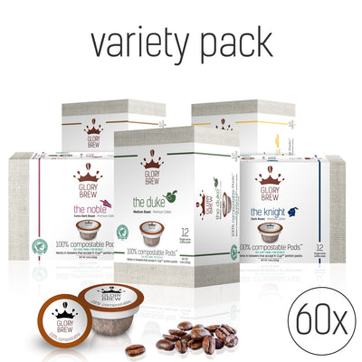 VARIETY PACK - 5 BLENDS - 60 PODS