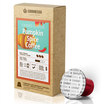 Pumpkin Spice Coffee Capsules compatible with Nespresso Machines