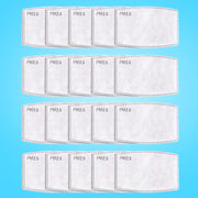 Face Mask Filters - 20 Pack - PM2.5 Replacements
