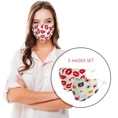 Women's Mask Reusable - Kisses