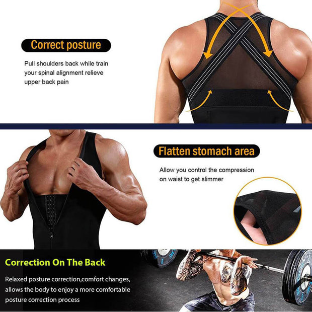 Back Brace Girdle Tight Vest