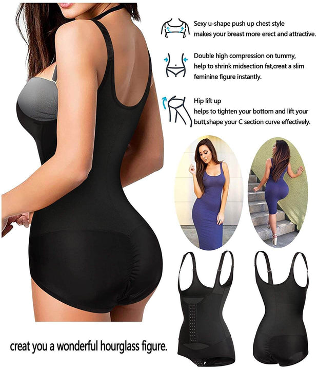 Women Waist Trainer Corset Full Body Shaper Cincher Tank Top with Adjustable Straps
