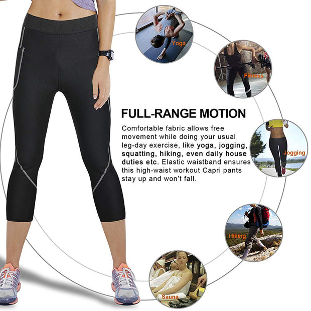 Women neoprene sauna slimming pants body shaper