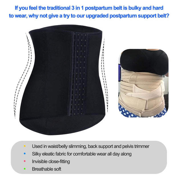 Postpartum Belly Wrap Waist Trainer Recovery Support Pelvis Belt
