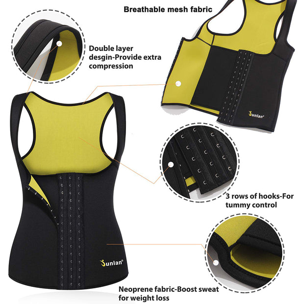 Junlan Sweat Sauna Corset Tank Top