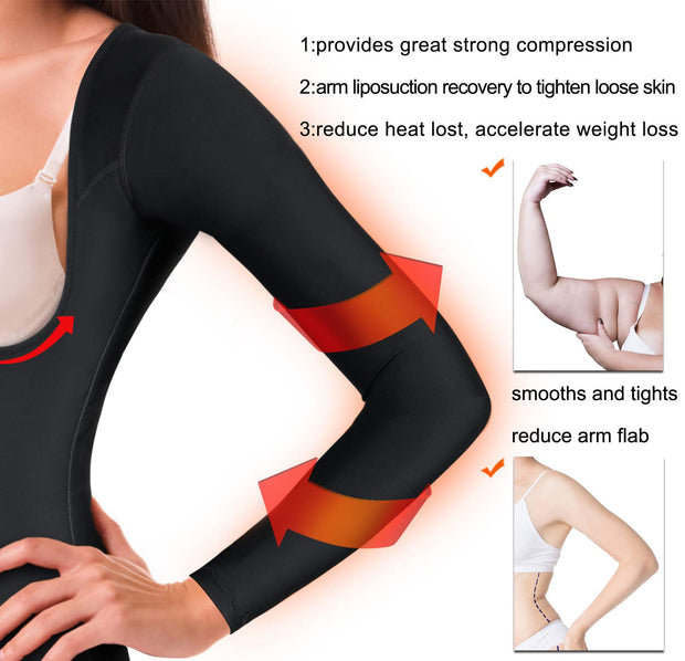 Women Tummy Control Upper Arm Shaper Post Surgical Compression Tops