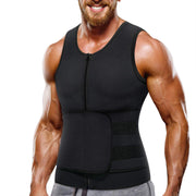 This is Junlan  Men Sauna Zipper Tank Top with Adjustable Velcro   Main picture