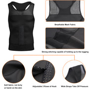 Junlan Moobs Binder Tight Vest with Adjustment Waist Trimmer