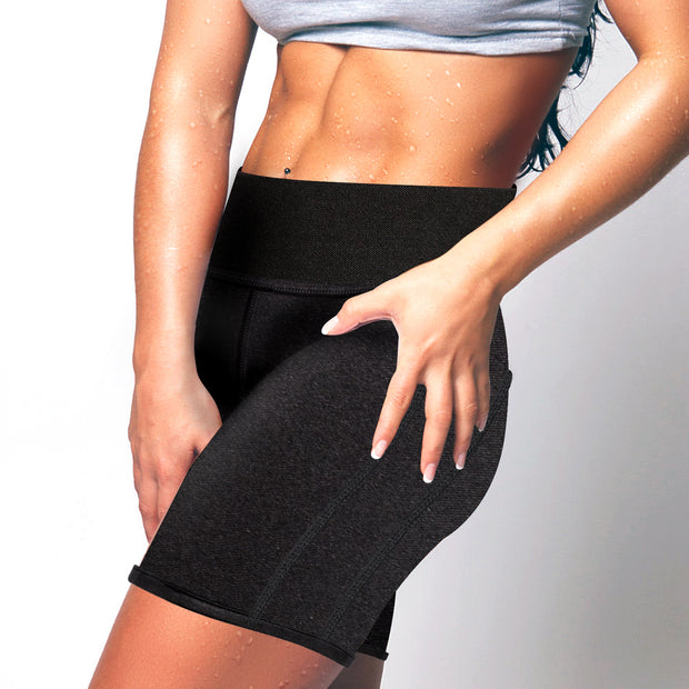 Women Neoprene Sauna Sweat Pants with Side Pocket