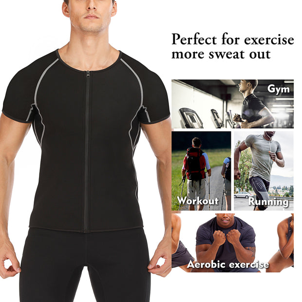 Junlan Neoprene Sweat Sauna Fitness Top