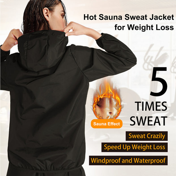 hot sauna sweat jacket for weight loss, which up to 5 time sweat
