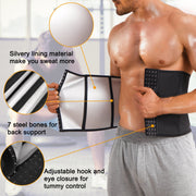 Junlan Sweat Silver Layer Fat Burning Waist Trainer