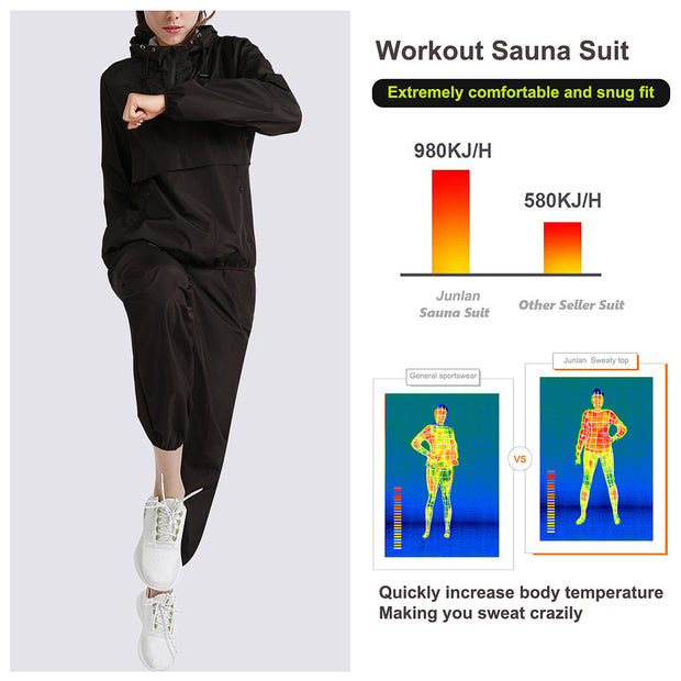 Junlan workout sauna suit  increase body temperature quickly