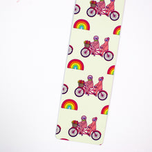 Load image into Gallery viewer, Bicycling Sloths Metal Bookmark