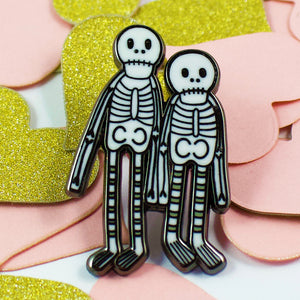 Creep It Real Skeletons Enamel Pin
